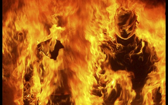 Greek Riots: Mannequins on Fire