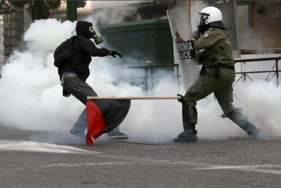 Fight in athens