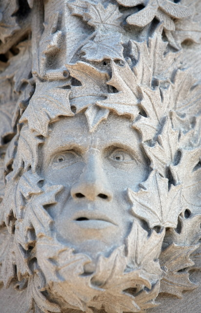Carved face by Jason Beaudet