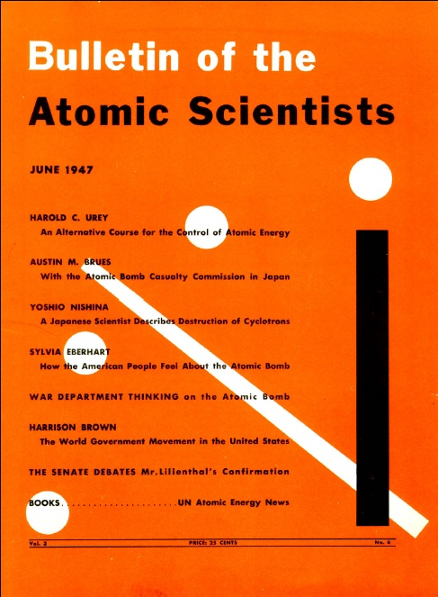 The Bulletin of the Atomic Scientists Cover, June 1947